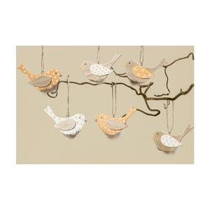 Sada 6 závesných vtáčikov Boltze Mija