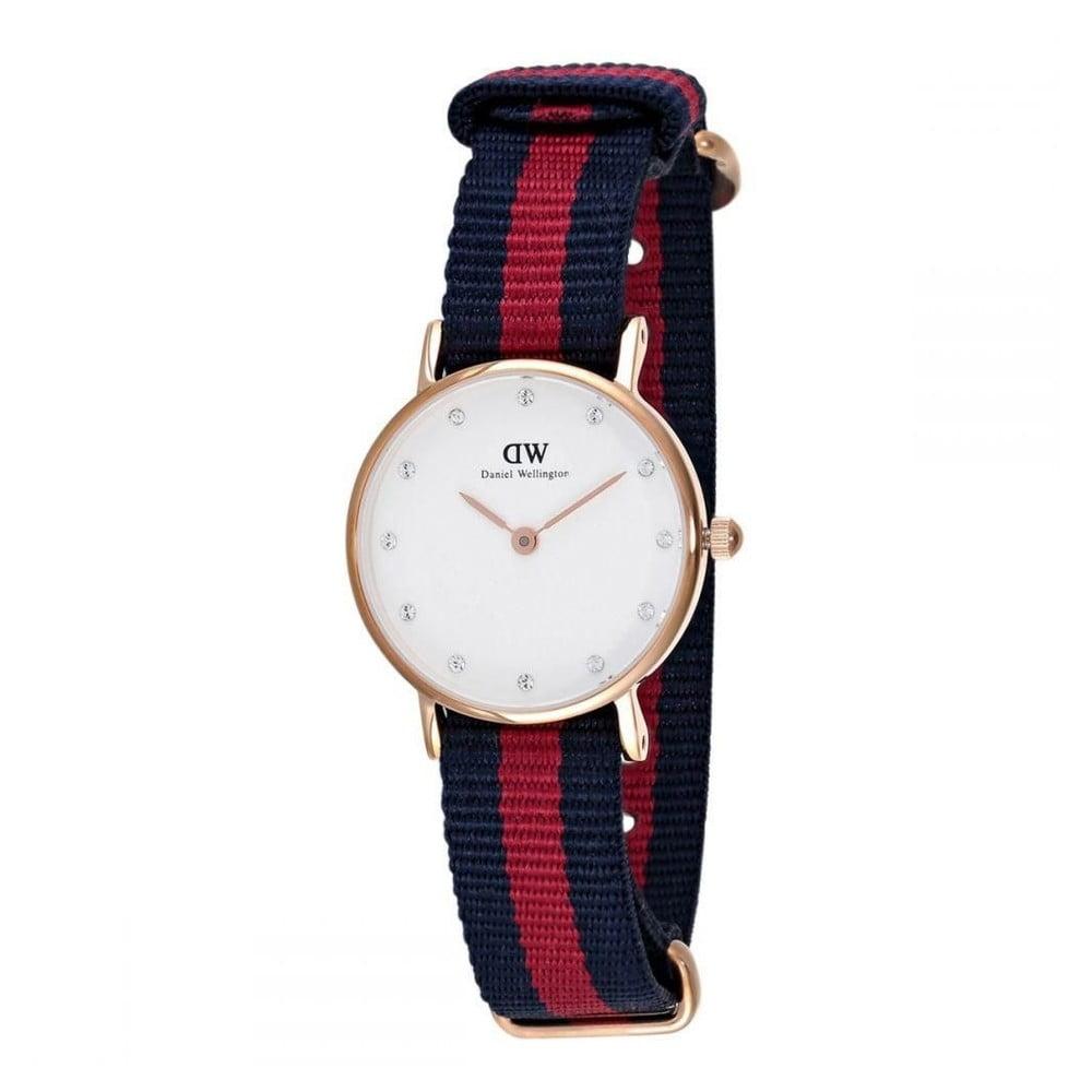 Dámske hodinky s ciferníkom růžovozlatej farby Daniel Wellington Oxford Gold, ⌀ 26 mm
