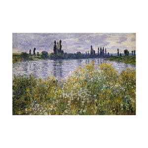 Obraz Claude Monet - Banks of the Seine, 60x40 cm
