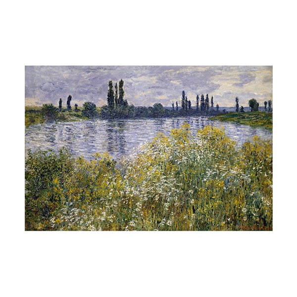 Obraz Claude Monet - Banks of the Seine, 45x30 cm