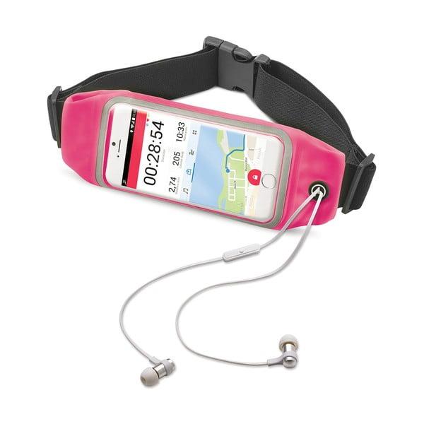 """Ružové športové neoprénové puzdro CELLY RunBelt View, pre telefóny do 4.7"""""""