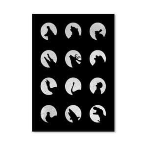 Plagát Wolf Night Off od Florenta Bodart, 30x42 cm