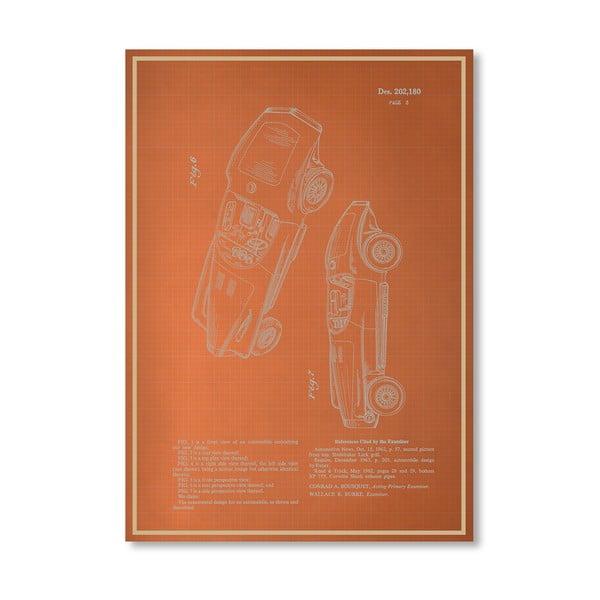 Plagát Automobile III, 30x42 cm