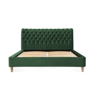 Zelená posteľ z bukového dreva Vivonita Allon, 140 × 200 cm