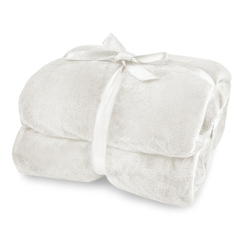 Krémová deka z mikrovlákna DecoKing Mic, 220 × 240 cm