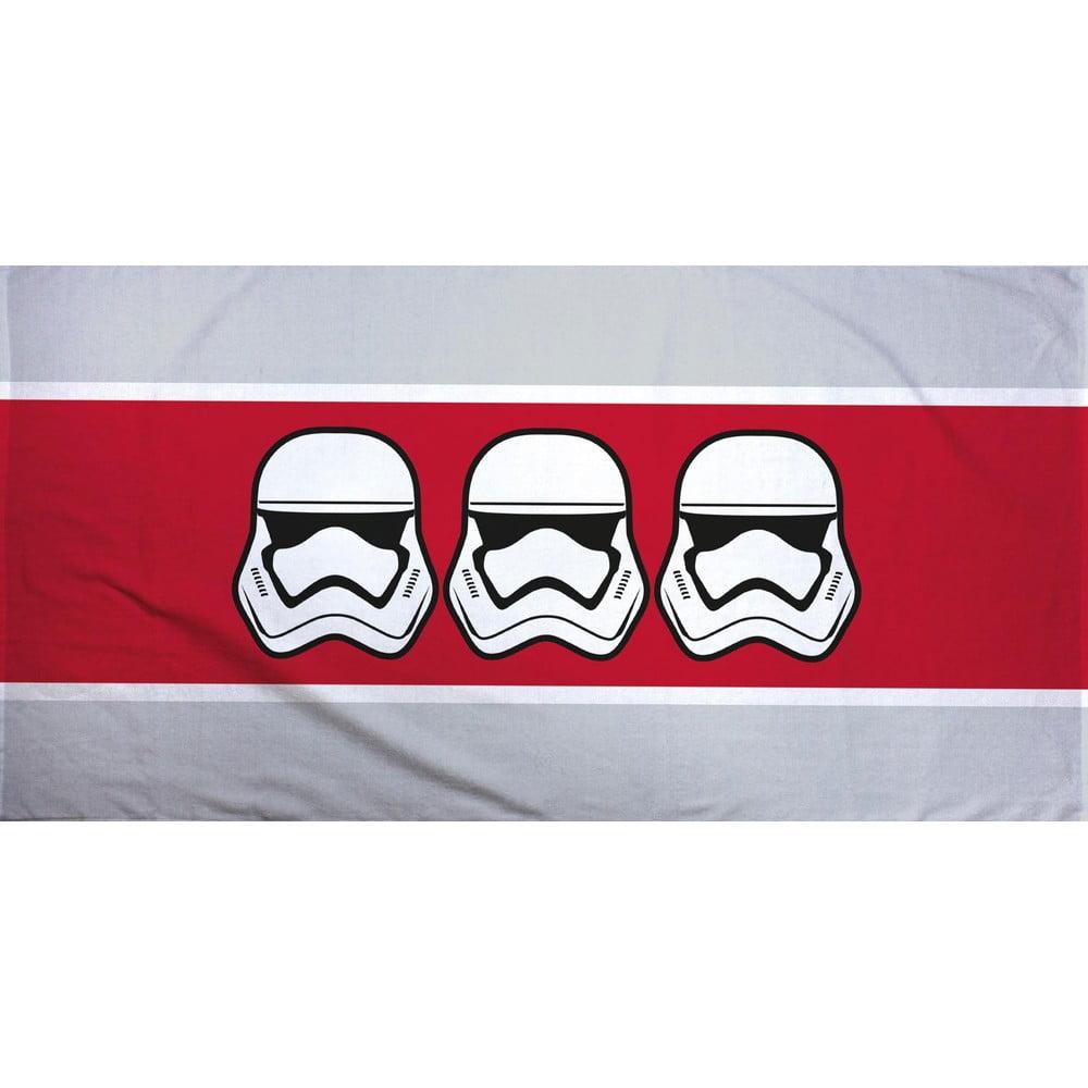 Červeno-sivý bavlnený uterák Halantex Star Wars, 70 x 140 cm