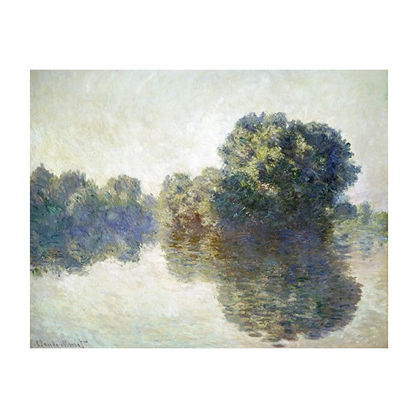 Obraz Claude Monet - The Seine at Giverny, 90x70 cm