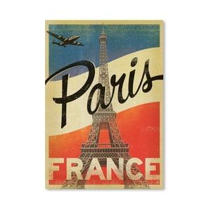 Plagát Americanflat Paris, 42 x 30 cm