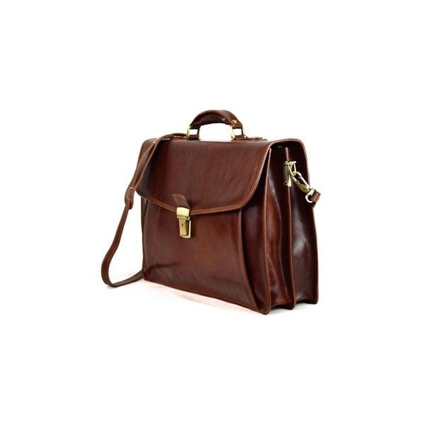 Kožená taška Santo Croce VL8256 Brown