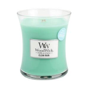 Sviečka s vôňou osviežujúceho vzduchu po daždi Woodwick Jarný dážď, doba horenia 60 hodín