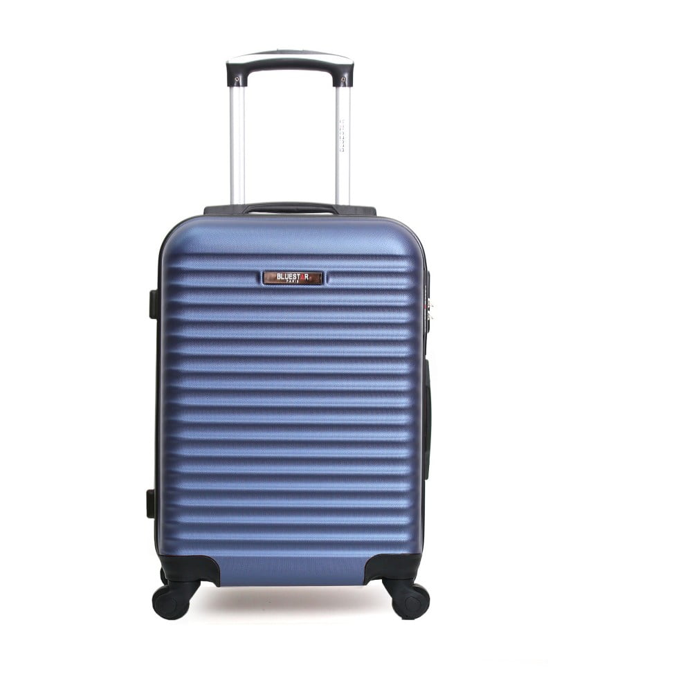 Modrý cestovný kufor na kolieskach Bluestar Hurgo, 95 l