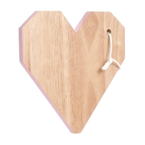 Doska na krájanie Origami Heart Pink