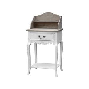 Biely konzolový stôl so zásuvkou a policou z topoľového dreva Livin Hill Rimini