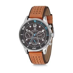 Pánske hodinky s hnedým koženým remienkom Bigotti Milano Sporty