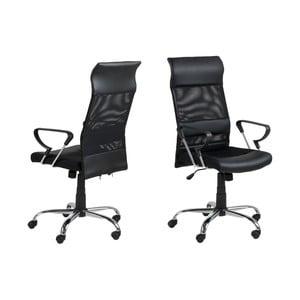 Čierna kancelárska stolička Actona Rosonheim
