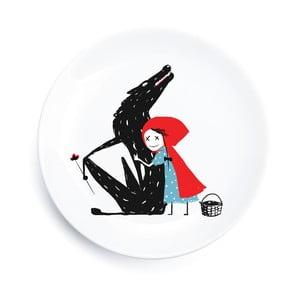 Porcelánový tanier We Love Home Little Red Hug, 25 cm