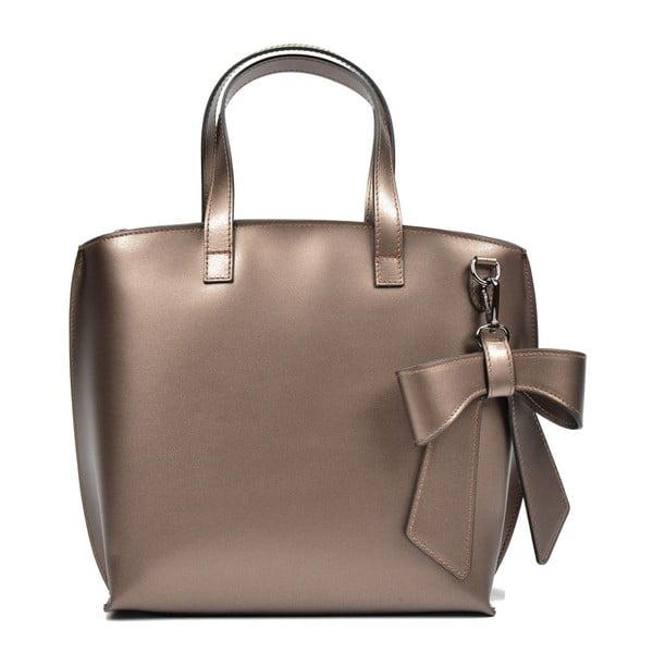 Kožená kabelka s bronzovými odleskami Luisa Vannini Bella