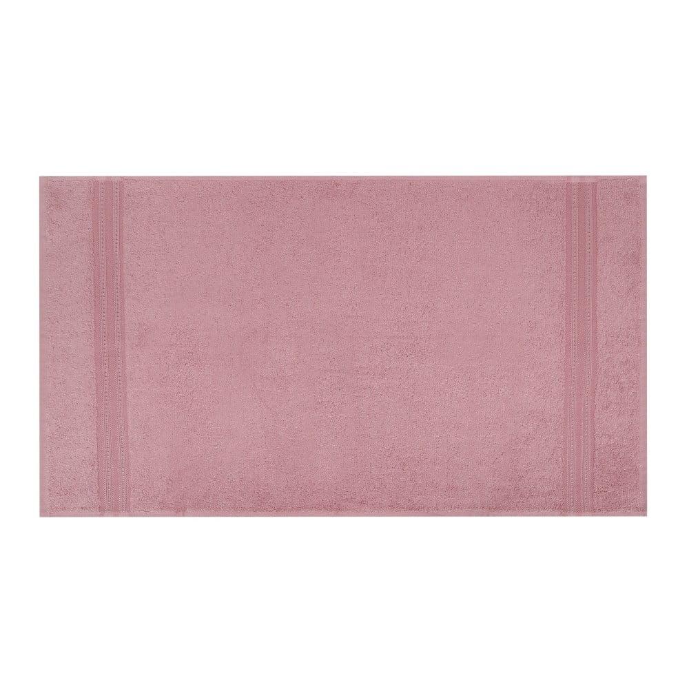 Ružová osuška Laverne, 70 x 140 cm