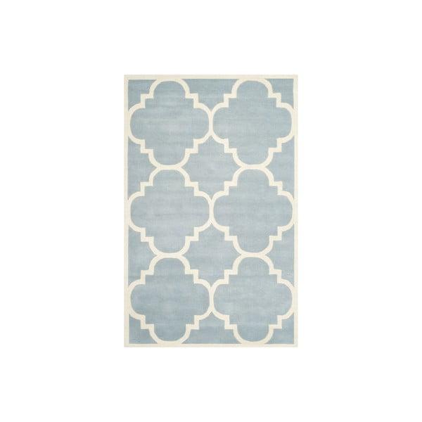 Vlnený koberec Greenwajch 152x243 cm, svetlo modrý