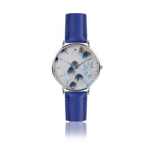 Dámske hodinky s modrým remienkom z pravej kože Emily Westwood Nataly