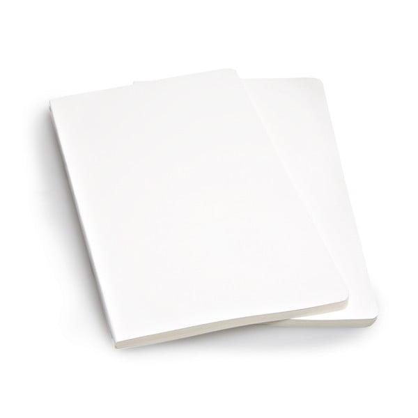 Sada 2 notesov Moleskine White, nelinkované 13x21 cm