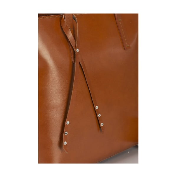 Kožená kabelka Giorgio Costa 15005 Cognac