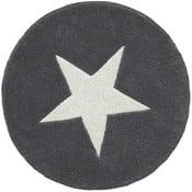 Sivý ručne tuftovaný vlnený koberec Linie Design Star, ⌀ 130 cm