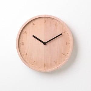 Čierne hodiny z bukového dreva Qualy&CO Allday Round