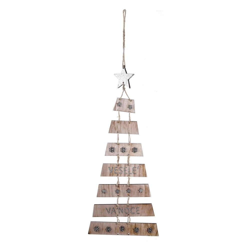 Závesná vianočná dekorácia v tvare stromčeka s hviezdou Ego dekor