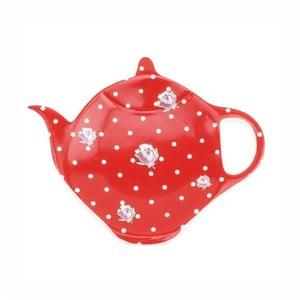 Sada 2 červených podložiek pod čajník HOME ELEMENTS De Campagne Pois