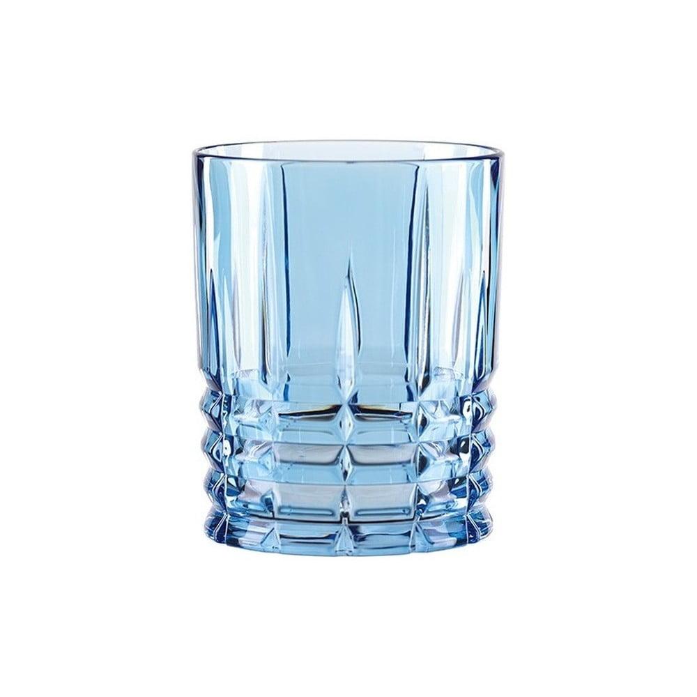 Modrý pohár na whisky z krištáľového skla Nachtmann Highland Aqua, 345 ml