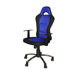 Modro-čierne kancelárske kreslo SOB Office