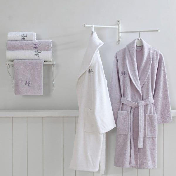 Set 2 bavlnených županov a 4 uterákov zo 100% bavlny z edície Marie Claire Olive