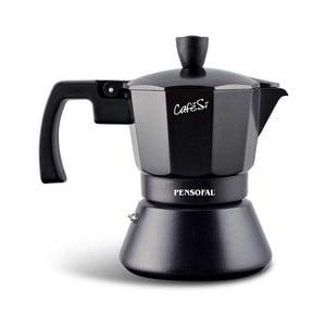 Čierna mokka kanvička na espresso Pensofal Cafesi Noir, 3 šálky