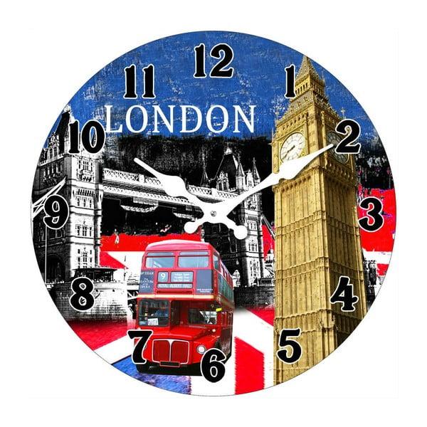 Sklenené hodiny V Londýne, 34 cm
