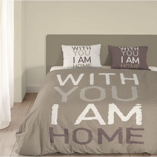 Obliečky I'm Home, 200x200 cm, béžové