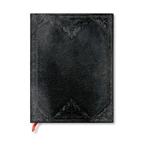 Linajkový zápisník s mäkkou väzbou Paperblanks Midnight Rebel, 18 x 23 cm