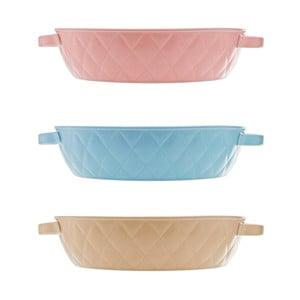 Sada 3 pekáčikov Diamond 27 cm, rôzne farby - modrá, ružová, béžová