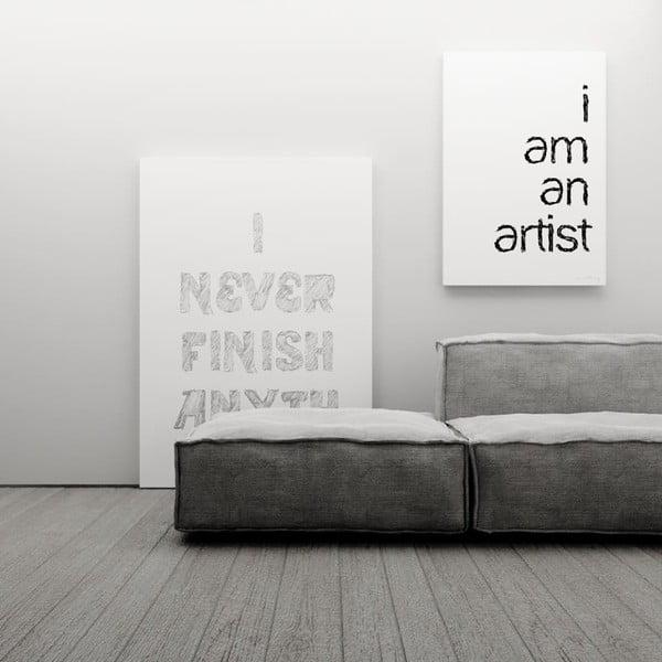 Plagát I am an artist, 100x70 cm
