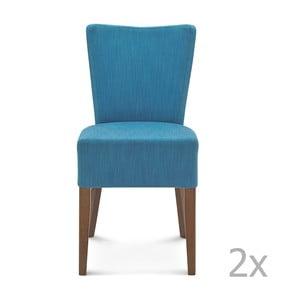 Sada 2 modrých stoličiek Fameg Aslak