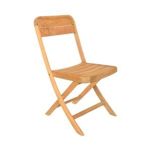 Sada 2 skladacích záhradných stoličiek z teakového dreva Ezeis Sun