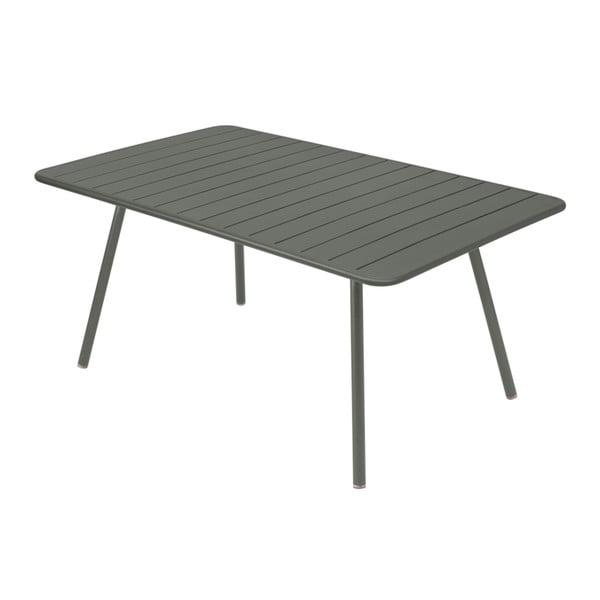 Sivý kovový jedálenský stôl Fermob Luxembourg