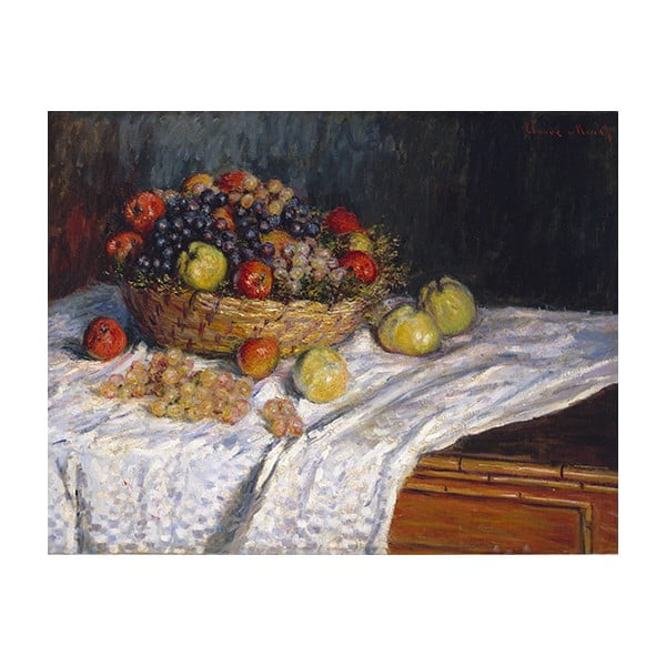 Obraz Claude Monet - Apples and Grapes, 70x55 cm
