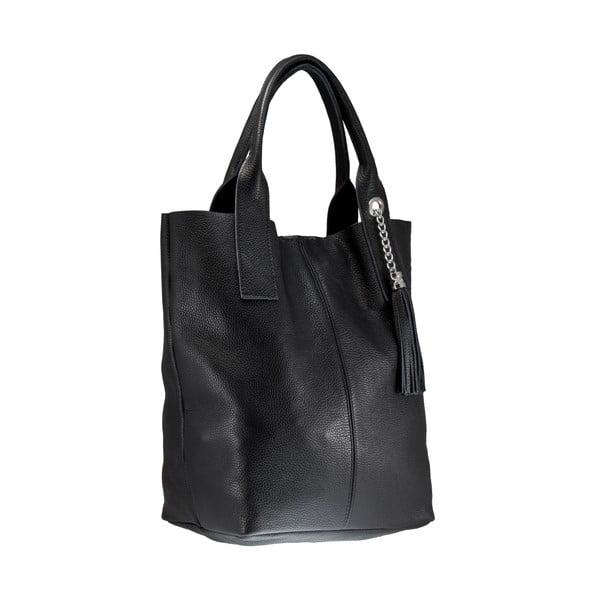 Čierna kožená kabelka Giorgio Costa Lauretta