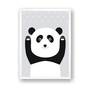Plagát Nord & Co Snow Panda, 21 x 29 cm