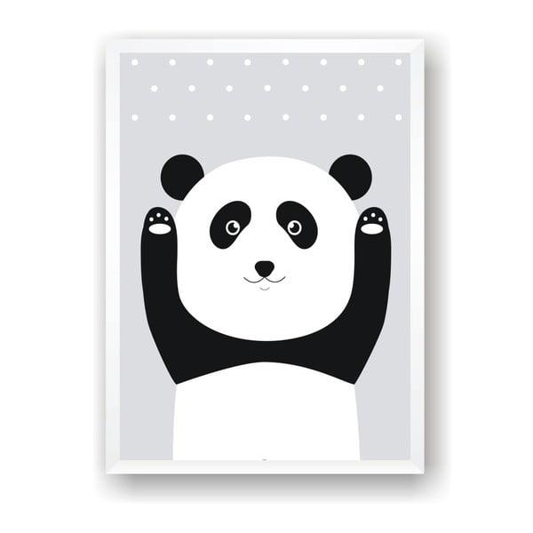 Plagát Nord & Co Snow Panda, 40 x 50 cm