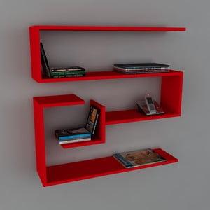 Polica Confier Book Red, 22x90x87 cm