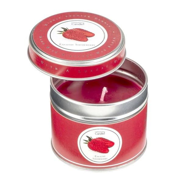 Aromatická sviečka v plechovke s vôňou jahôd Copenhagen Candles, doba horenia 32 hodín