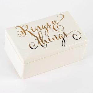 Keramický úložný box Celebrations Ring'n'Things