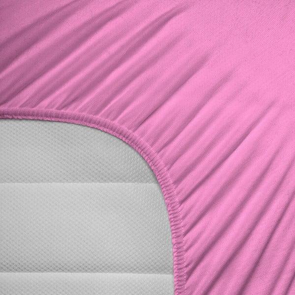 Elastické prestieradlo Hoeslaken 160-180x200 cm, ružové